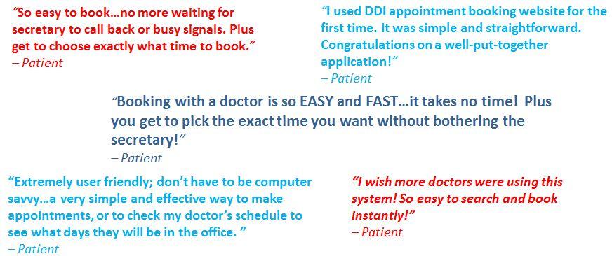 Testimonials (Patients)